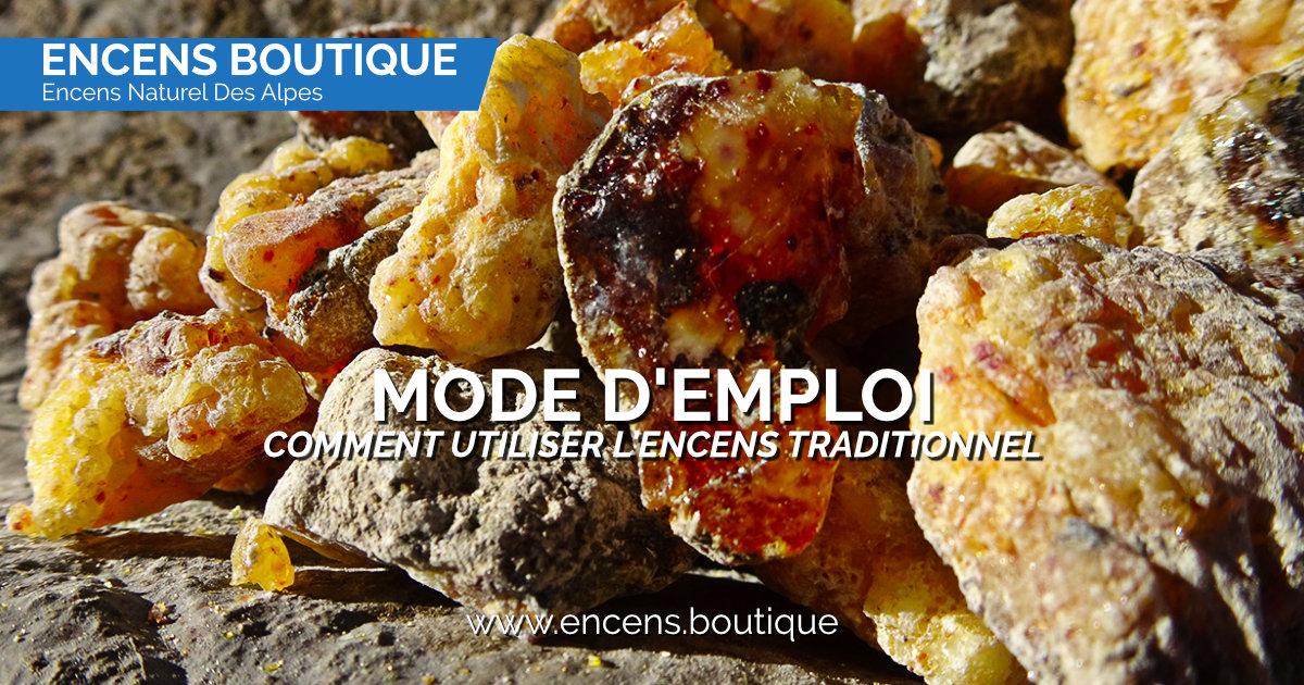 Encens des Alpes - Comment utiliser l'encens traditionnel